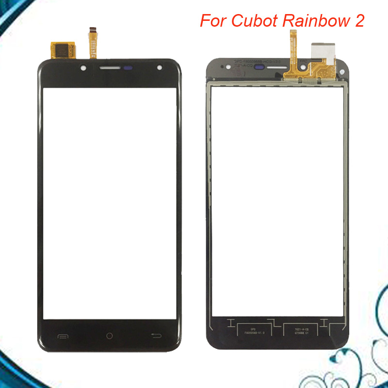 5.0 Inch For Cubot Rainbow 2 Touch Screen Glass Tested Front Glass Digitizer Panel Lens Sensor IN Stock