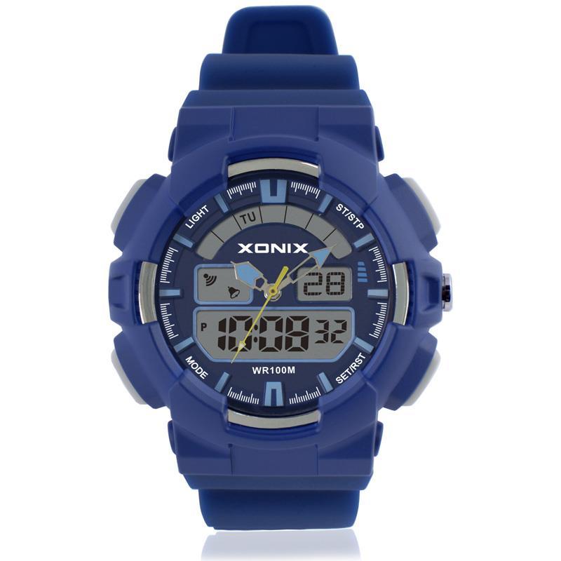 Marca deportiva para hombres Relojes deportivos Relojes de cuarzo electrónicos LED analógicos digitales 100M Reloj de natación impermeable NZ