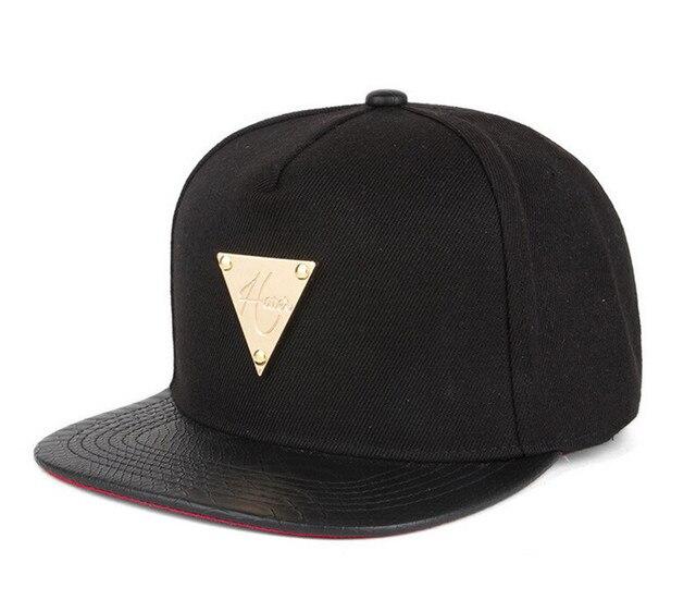 7773aac48a4 2015 New brand 5 panel cap raiders snapback gold triangle mark baseball cap  women men gorras planas black free shipping