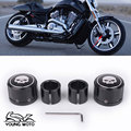 2pcs Skull Front Axle Cover Cap CNC Aluminum RC Nut Rough Crafts Rear Axle Nut Covers Bolt Kit For Harley Davidson VRSC XG XL