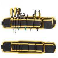 Caja de herramientas multifunción destornillador almacenamiento bolsa de lona cintura ajustable electricista reparación Caja de Herramientas bolsa