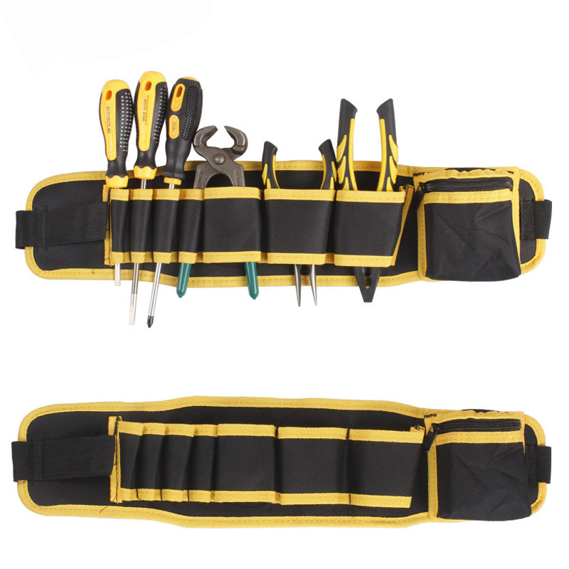 Multifunction Tool Case Screwdriver Storage Canvas Pouch Waist Adjustable Electrician Repair Tool Box Bag