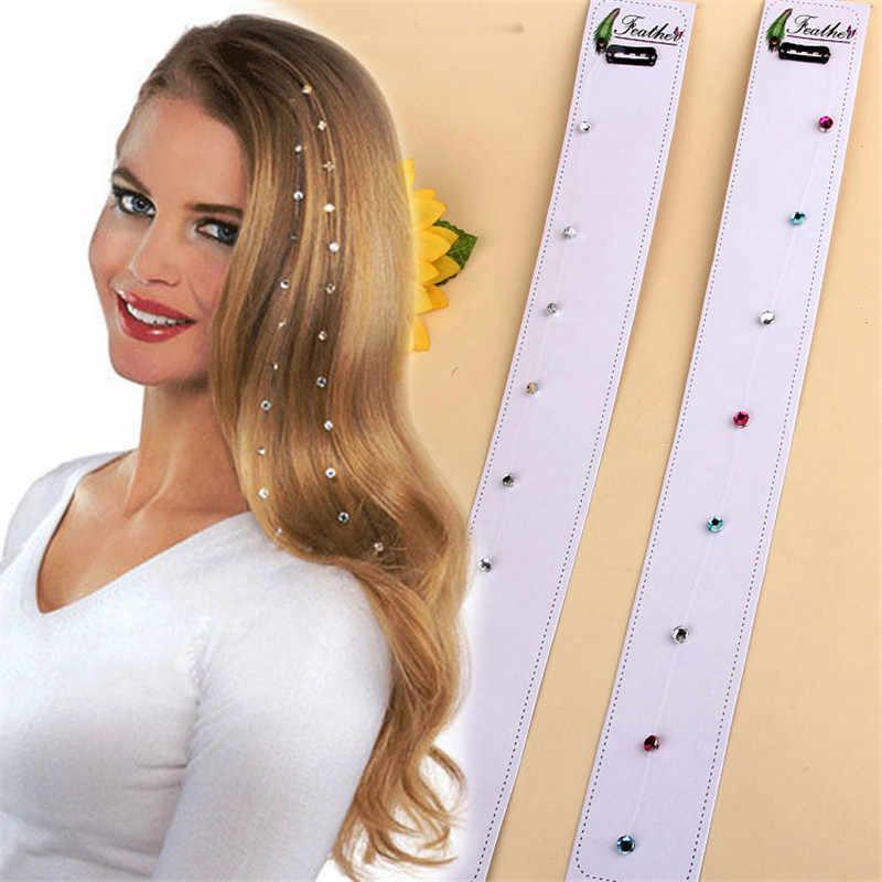 Kualitas Tinggi Fashion Ikan Line Berlian Imitasi Rambut Aksesoris Indah Wanita BB Klip Rambut Pin Rambut PIN GRATIS Pengiriman