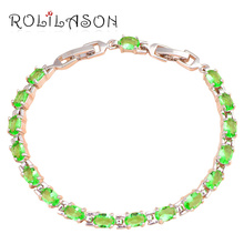 Popular design beautiful bracelets brand Silver plated AAA Zirconia & Green Crystal Health Fashion jewelry TBS751