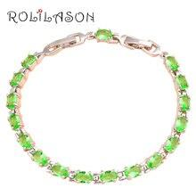 Popular design beautiful bracelets brand Silver plated AAA Zirconia & Green Crystal Health Fashion jewelry TBS751
