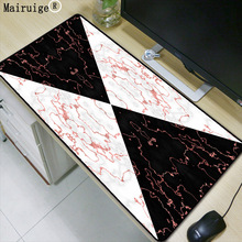 Mairuige marble stitching pattern large size rubber anti-slip mouse pad black precision sewing computer keyboard gift mat