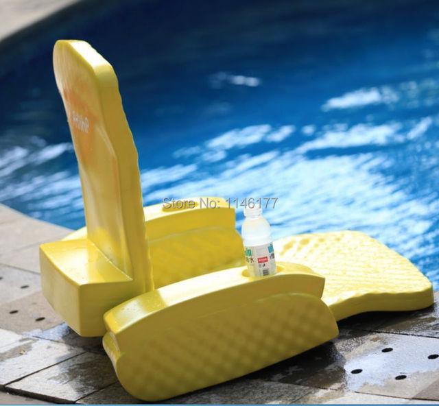 Natação amarelo do saco de feijão cama divertido água aqua água termal ao ar livre espreguiçadeiras cama dobrável cadeira reclinável cadeira de fábrica