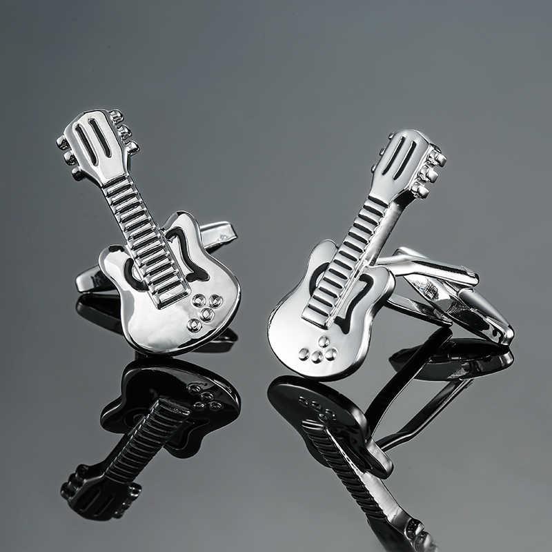 Musikinstrument Trommel Violine Gitarre Manschettenknopf Manschettenknopf