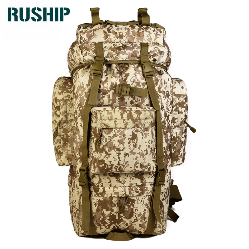 Men Military Backpack Waterproof Nylon Large Backpacks Bag Multi-function Camouflage Pack 65L Rucksack Tactics Bag Molle System outdoors waterproof nylon backpacks molle tactics backpacks laptop backpacks military backpack rucksacks travel bag pack