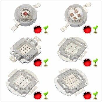 цена на High Power LED Chip 660nm Deep Red LED Grow Light 660 nm 3W 5W 10W 20W 30W 50W 100W COB Emitter for Plant Growing Tank Aquarium