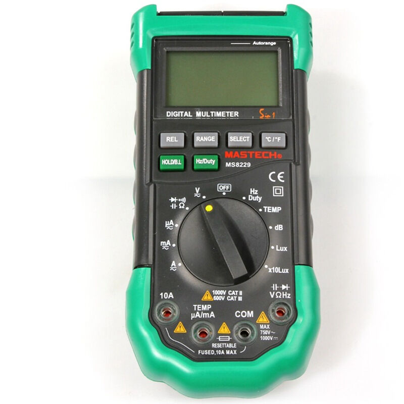 ФОТО Mastech MS8229 5 in1 Auto range Digital Multimeter Multifunction Lux Sound Level Temperature Humidity Tester Meter