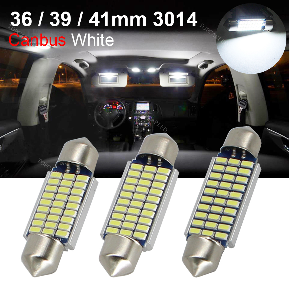 4pcs Canbus Error Free Car Led 36mm 39mm 41mm 3014 SMD 3175 6411 C5W C10W Interior External Auto Reading Light Bulb 12v high quality 31mm 36mm 39mm 42mm c5w c10w super bright 3030smd car led festoon light canbus error free interior doom lamp bulb