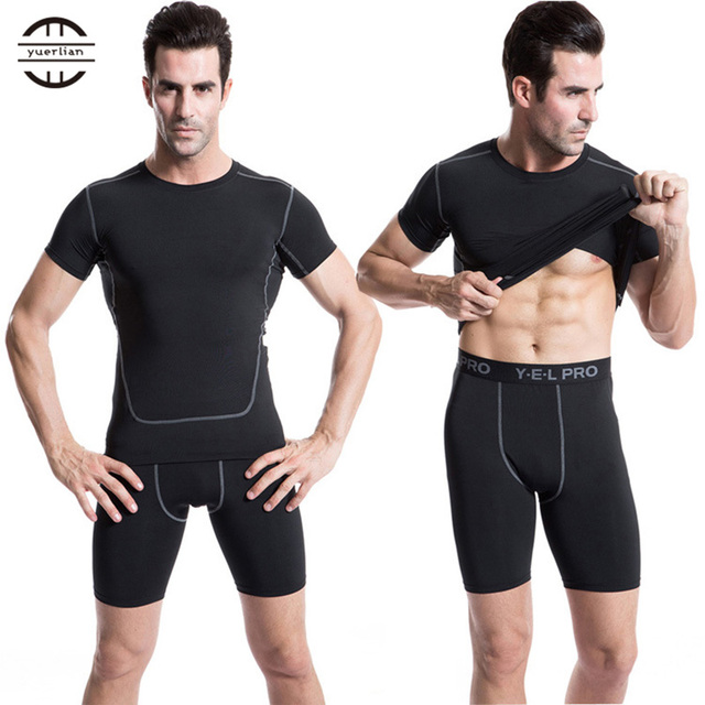 Hot Summer Quick Dry Gym Sports Leggings Crossfit Men's Short Football Trousers Jogging Compression Tight Running Short