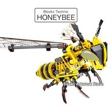 Fit Technic Series Honeybee Animals Set Sembo Technique Creative MOC Flyable DIY Educational Building Blocks Toys For Children