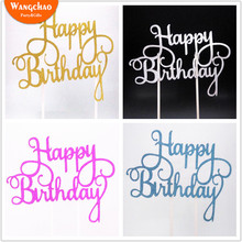 Cake Flag Cupcake Toppers Birthday Party Decorations Kids Topper Happy Supplies