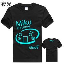 Nuevo 2016 anime Japonés Envío Gratis Hatsune Miku Kagamine Cosplay Luffy Camiseta de Manga T-Shirt Hombres de La Moda de Las Mujeres Topo