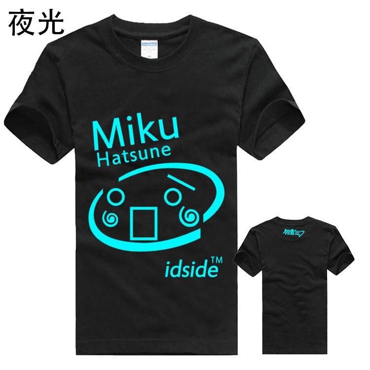 Nuovo 2016 anime Giapponese Spedizione Gratuita Hatsune Miku Kagamine Cosplay Luffy T-Shirt T-Shirt Moda Uomo Donna Maniche Topo