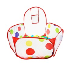 Portable Baby Playpen Children Indoor Ball Pool Play Tent Foldable Polka Dot Kids Playpens Outdoor Child Safe Fence Playpen