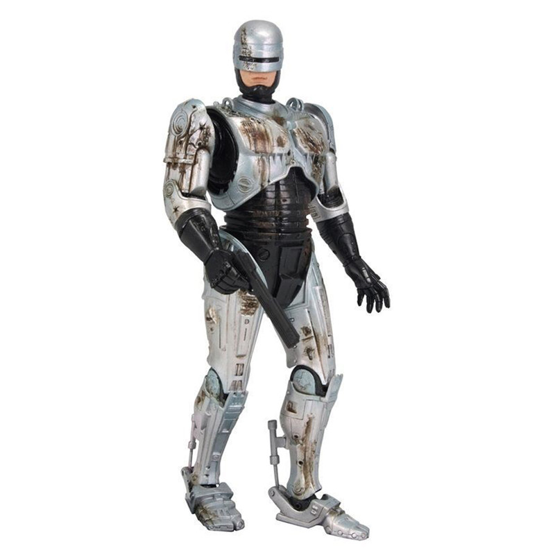 18CM 7 Inches NECA RoboCop Alex Murphy Joints Moveable Doll PVC Action Figure Collectible Model Toy Exquisite Card Board S559 neca a nightmare on elm street 3 dream warriors pvc action figure collectible model toy 7 18cm kt3424
