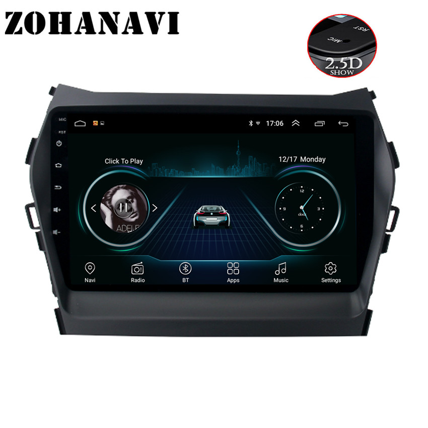 ZOHANAVI 9 Android Car GPS Radio Player for Hyundai Santa fe IX45 2013 2016 Auto Stereo