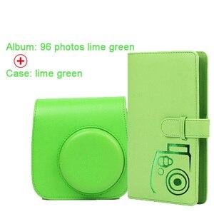 Image 5 - 保護ケース防水puレザーバッグショルダーストラップ + 96 ポケットフォトアルバムフジフイルムインスタックスミニ 9/8/7sカメラ
