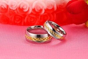 Кольца для мужчин и женщин ZORCVENS, золотого цвета, с ромб, из нержавеющей стали