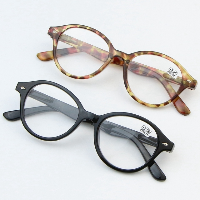 77be28d289 Round Big frame Women s Reading Glasses 9553 Men Reading mirror Presbyopia  Hyperopia eyeglasses Black   tortoiseshell DRDAR