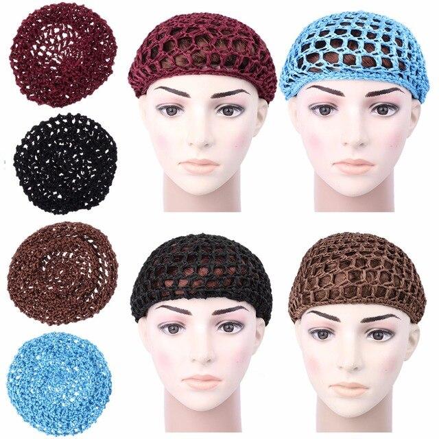 חדש Arriva סרוגה שיער כובע Snoods Mesh Bun כיסוי שינה כפת גולגולת כובע כובע מוסלמי רך
