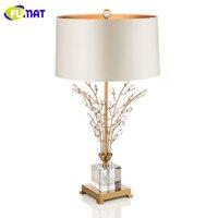 Европейский Стиль минималистский Кристалл Настольная лампа современный Гостиная стол Light исследование Спальня тумбочка свет Dia45cm H76cm