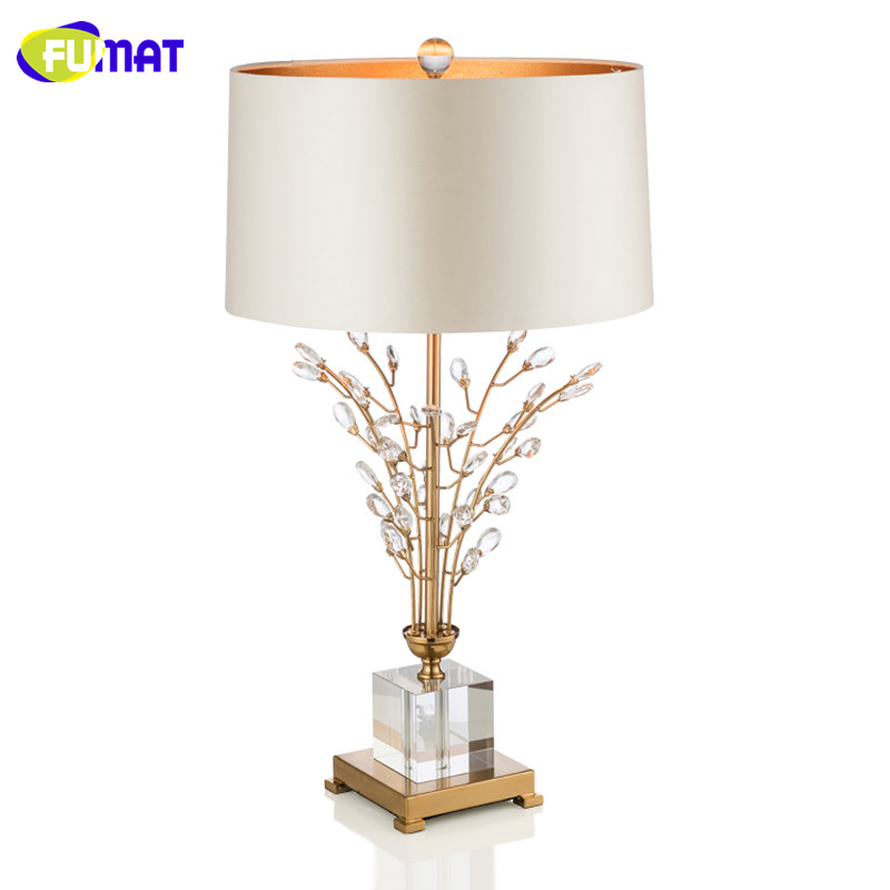 European Style Minimalist Crystal Table Lamp Modern Living Room Table Light Study Bedroom Bedside Table Light Dia45cm H76cm luxary classic american bedroom table light foyer european crystal table lamp glass tall table light bedside hotel table lamp
