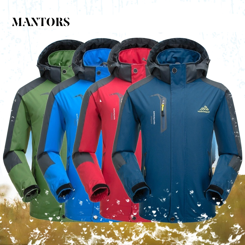 Men's Hooded Waterproof Jacket Autumn Winter Soft Shell Male Casual Windbreaker Outdoor Sportswear Coats Warm Zipper Hoodies Men