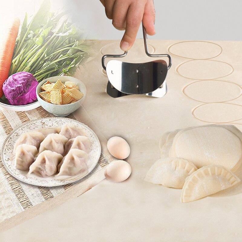 Outil de cuisine de fabricant de boulette de presse de pâte d'acier inoxydable pour faire la Machine de fabricant de peau de boulette|machine for making dumplings|dough maker machines|dough machine -