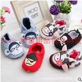 2015 Spring Summer Hot sell styles 100% cotton soft soled baby first Walker infantil red spider man baby shoes bebe sapatos
