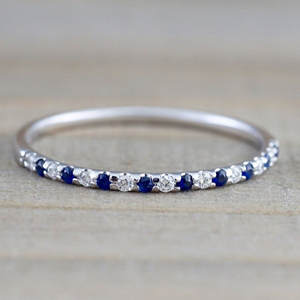 8seasons Tail-Ring Rhinestone Fashion Jewelry Engagement Blue/rose Women Size-6/7/8/..