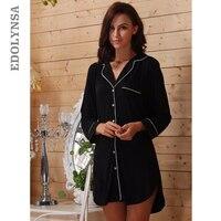 Women Sleep Lounge Long Sleeve Modal Sleepwear Robe Pijama Home Clothing Nightdress Bathrobe Nightgown Pajamas Multcolor #S038