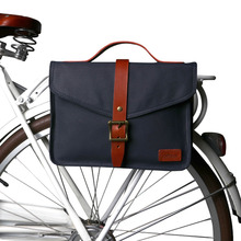 Tourbon Retro Canvas Bike Rear Seat Pannier Bag Bicycle Front Tube Pouch City Tote Cycling Water Repellent Handle Briefcase tourbon bicycle handlebar bag front pouch canvas