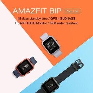 Image 2 - Huami Amazfit ביפ חכם שעון הגלובלי גרסה נשים גברים GPS GLONASS חיים עמיד למים Smartwatch קצב לב צג כושר Tracke