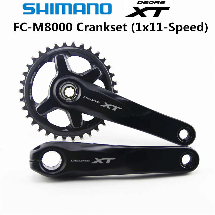 541986f1b25 SHIMANO DEORE XT FC M8000 HOLLOWTECH II Crankset M8000 Crankset 1x11-Speed  30T 32T 34T