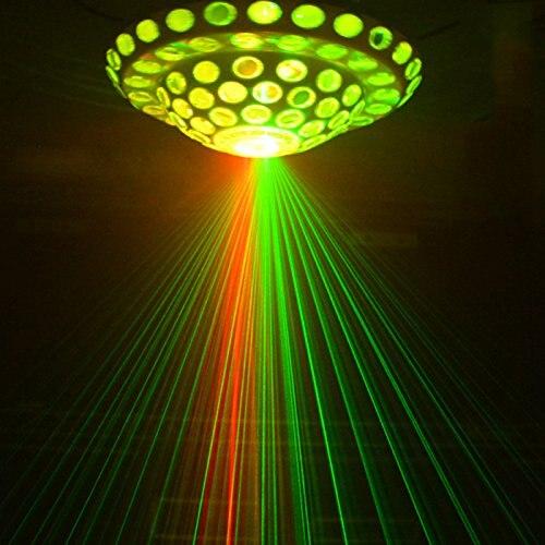 DMX scène lumière 3 W 6 LED RG scène projecteur lumière Auto et voix-activé cosmique cristal magique boule stade lumière blanc