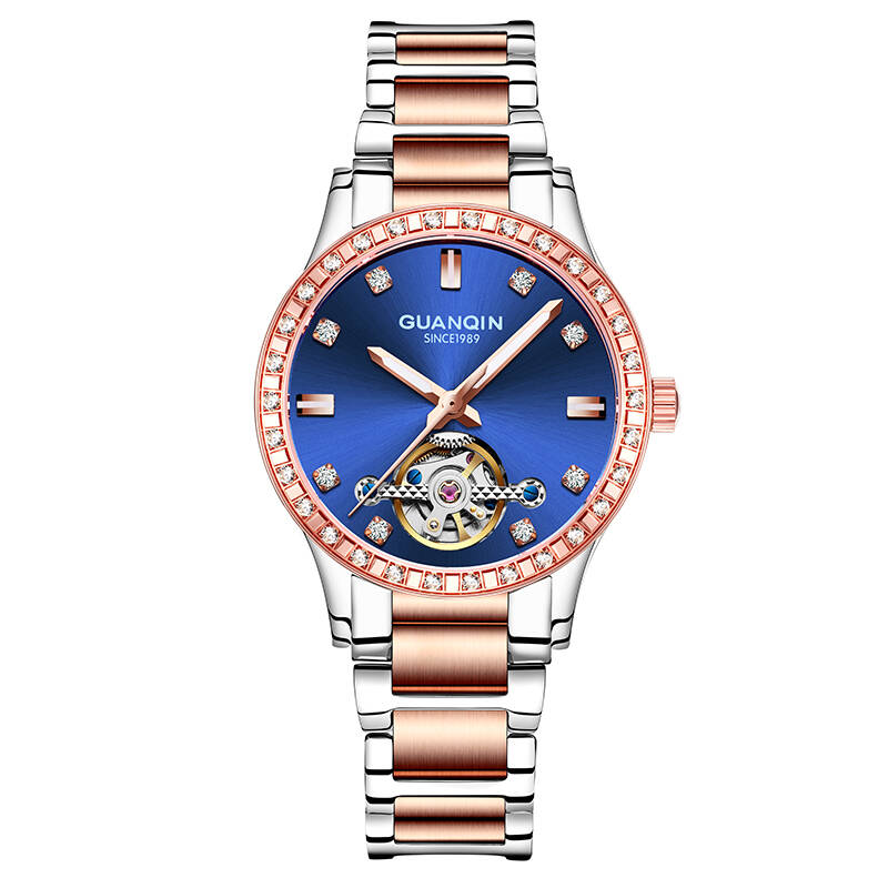 купить GUANQIN GJ16102 watch women luxury brand Mechanical Automatic Hollow watches Waterproof Diamond sapphire Women gold watch women по цене 5371.8 рублей