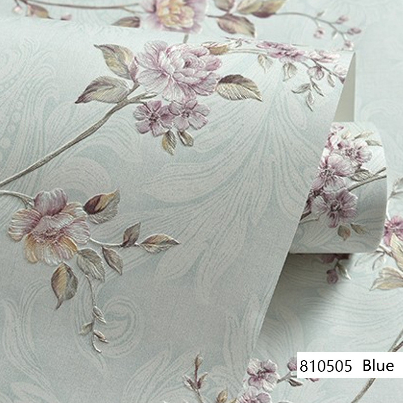 European Modern 3D Embossed Background Wallpaper For Living Room Bedroom Damask Floral Wallpaper Roll Desktop Decor Wall Papers