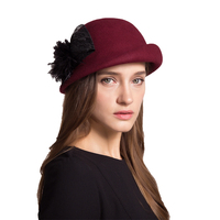 Sedancasesa New Winter Hat Hat Lady European Retro British Wool Beret Headdress Shipping Fashion Hat