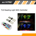 2 pcs Interior de Carro de Controle Remoto RGB CONDUZIU a Luz de Leitura de Carro DC 12 V T10 5050 Lâmpada Brilhante Auto Interior Lâmpadas Clearance luz
