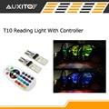 2pcs Remote Control Car Interior RGB LED Car Reading Light DC 12V T10 5050 Bright Lamp Bulb Auto Interior Lamps Clearance light