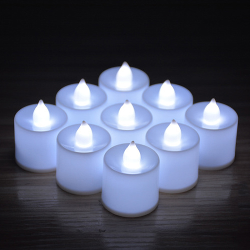Candles Tealight Led Tea Light Flameless Flickering Wedding Home Room Decor ...