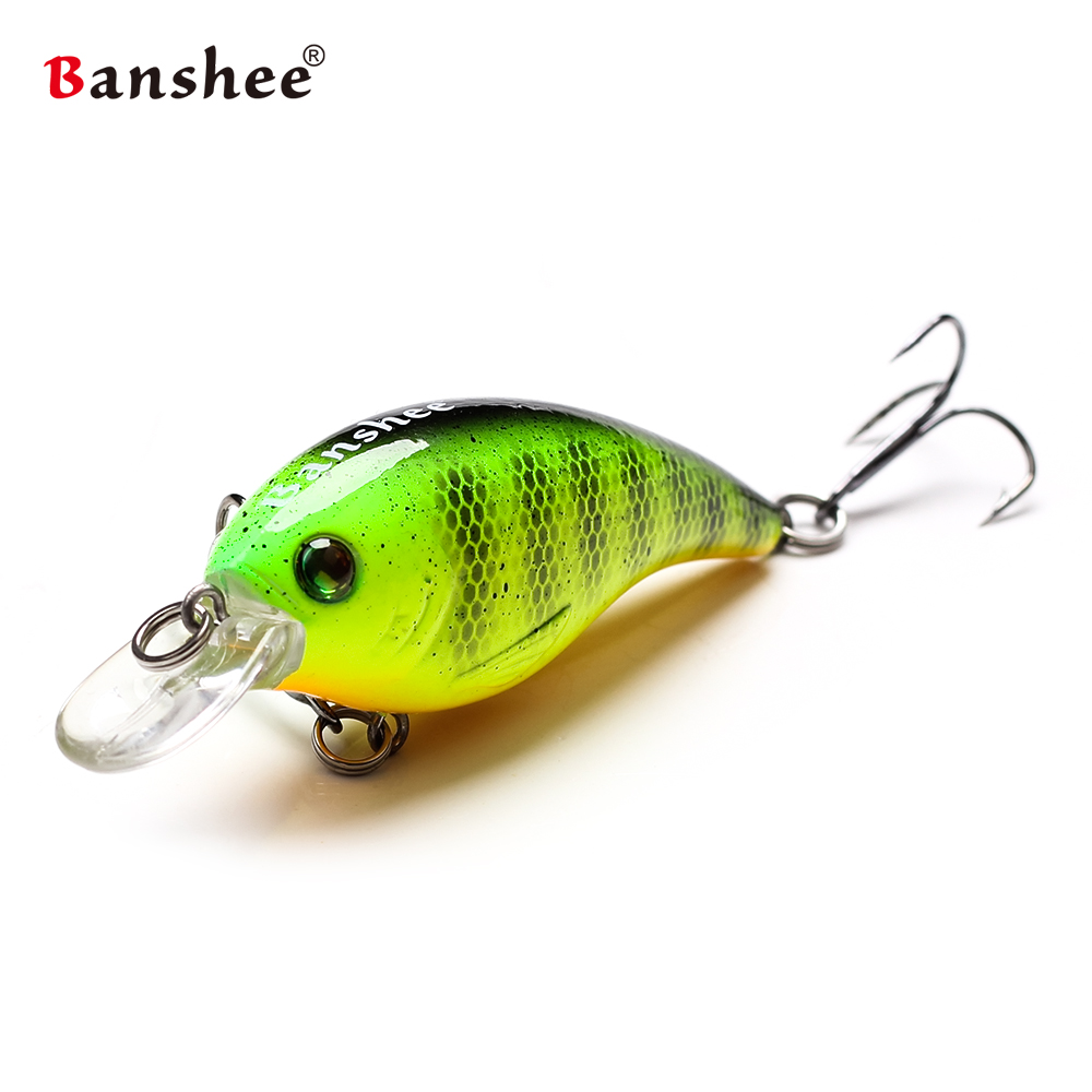Banshee 60mm 10g Crankbait Bass/Pike Fishing Lure Trout Cranks/Sinking Wobblers For Trolling Artificial Hard Bait Rattle Perch