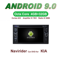 Navirider GPS Android 9.0 bluetooth stereo 4 Core 8 Core car DVD player for KIA SPORTAGE head unit autoradio accessories