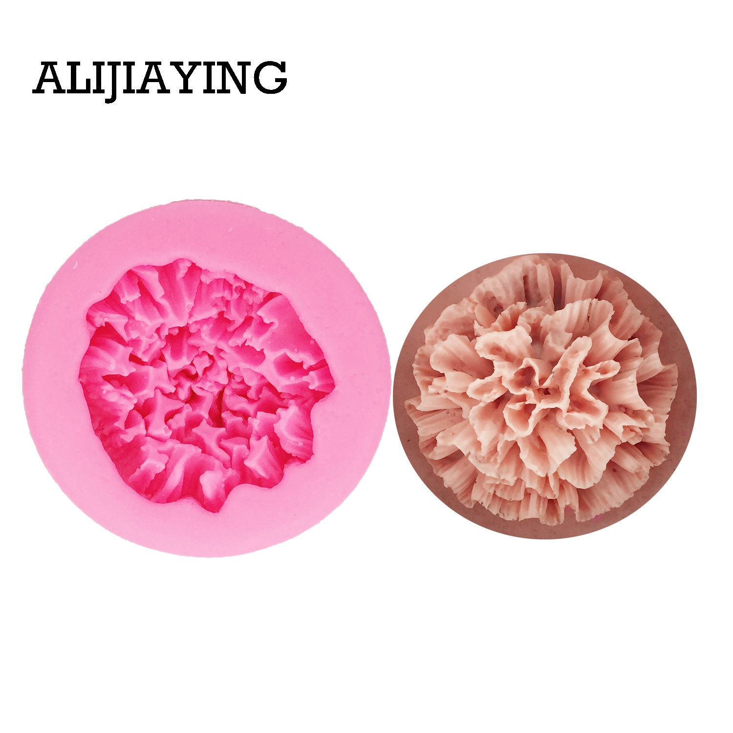 M1318 Sugarcraft Peony/carnation flower silicone molds for 3D crafts fondant cake mold cake decorating tools Soap candle Mould