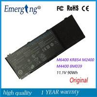 11.1 V 90WH Original Novo Bateria Do Portátil para Dell Precision M2400 M4400 M6400 M6500 312-0873 8M039 C565C DW842 KR854 J012F