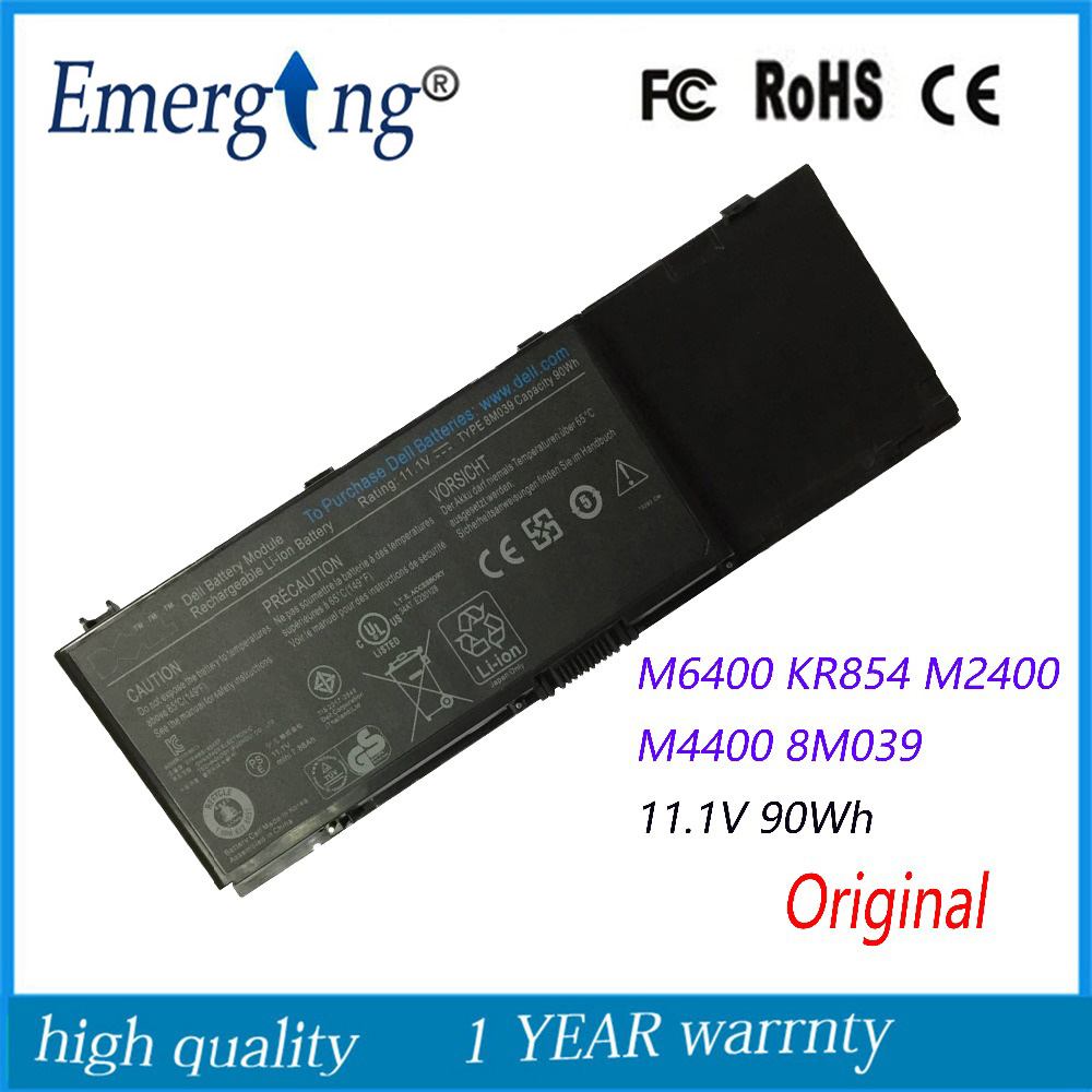 11.1V 90WH New Original Laptop Battery for Dell Precision M2400 M4400 M6400 M6500 312-0873 8M039 C565C DW842 KR854 J012F image